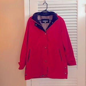LIZ CLAIBORNE | red hooded lined jacket Lg